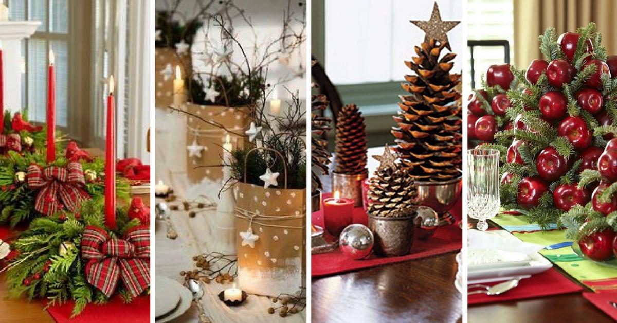 Creativas y originales ideas para decorar tu mesa en navidad - Ideas originales para decorar en navidad ...